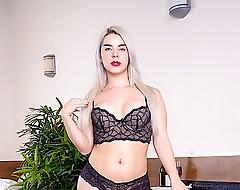 Sexy blonde shemale Carol Penelope