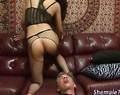 Ladyboy rimmed and fucked
