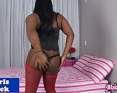 Black chobby amateur tranny strips and jerks