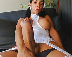 Tranny Sabrina Suzuki Plays With Huge Cock