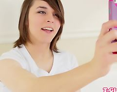 Les tgirl beauty doggystyled until cumsprayed