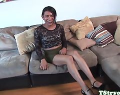 Mexican amateur trans cocksucks at audition