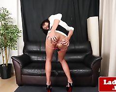 Beautiful oriental ts loves to masturbate