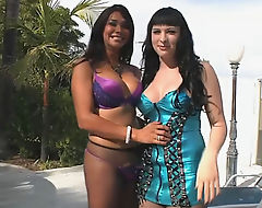 Two feisty trannies Vaniity and Bailey Jay BJ and anal fuck