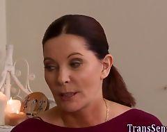Spunk soaked transgender