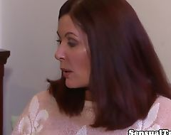 Teen redhead tgirl making out with stepmom