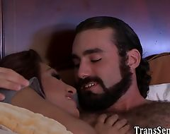 Rimmed trans babe pounded