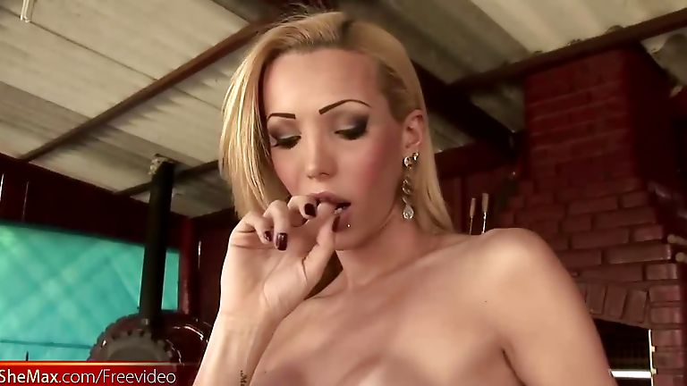 Busty Inked Tranny Gets Her Hole Ravaged