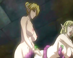 Shemale anime Elf with bigboobs poked from behind