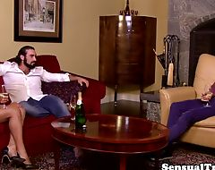Classy tgirl screwed after sensual foreplay