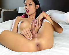 Lovely Asian Tgirl Sai Pleases Herself