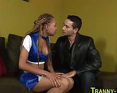 Ebony tranny hooker jizz
