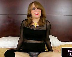 Femboy rubs asshole while masturbating