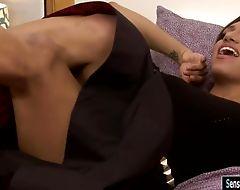 Latina shemale Jessy Dubai ass railed by hard man meat