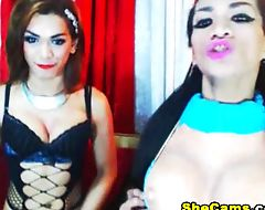 Shemale Duo Suck Each Others Cocks