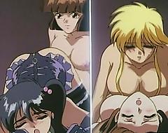 Cute hentai shemale threesome gangbanged orgy