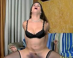Hot tranny Adriana with big tits loves hard cock in the ass