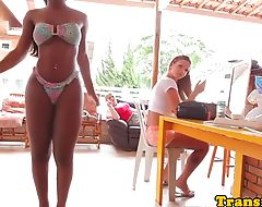Ebony tgirl getting ready for sexscene