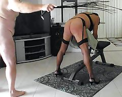 Sissyslutbecky gets her ass whipped