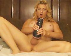 Web slut TS Tyra Scott filming herself while masturbating