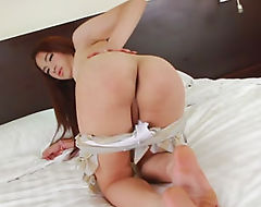 Thai ladyboy Tonkaow is in the mood to masturbate her cock