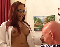 Ebony trans doc banged