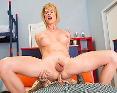 Tranny Hottie Delia Delions Assrides A Cock