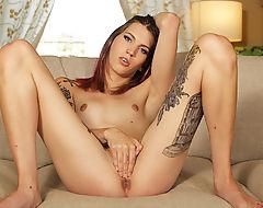 Gorgeous Ts Freya gets some hard anal fucking by hunk Chad