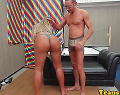 Tanlined tgirl with bigbooty analized