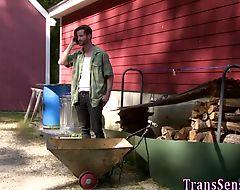 Trans slammed doggystyle