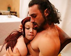 Shemale Chelsea Poe comforts a sexually hungry Jaxton in an anal sex