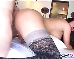 Chick with dick shemale fucked