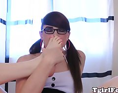 Toe licking ts smells her gorgeous feet