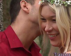 Transgender babe creamed
