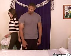 Tgirl assfucked in interracial twoway