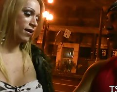 Tranny girl's ass is banged hard