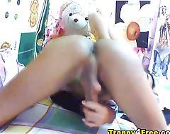 Huge Cock TS Masturbation