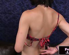 Spex femboy toying her ass hard