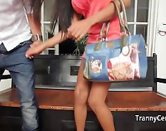 Ebony tranny escort fucks on date