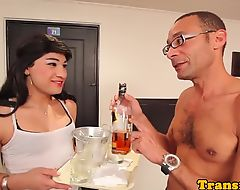 Amateur latina tgirl doggystyled
