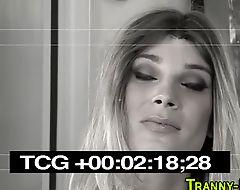 Tgirl gets ass fingered