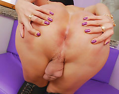 Tgirl Paula Davila Enjoys Stroking Her Hard Cock
