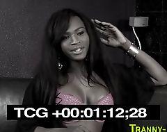 Ebony transexual fucking