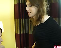 Cocksucking lingerie trap analfucking lover