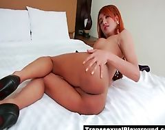 Cute ladyboy teases with her sexy body
