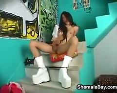 Sexy Shemale Masturbating