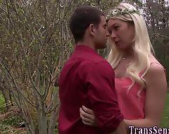 Face spunked transgender
