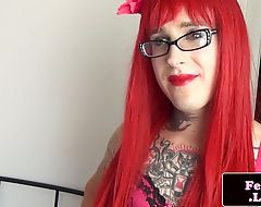 Inked spex femboy cumspraying hard