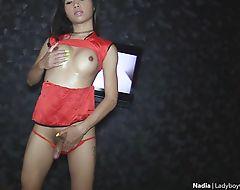 Fabulous ladyboy oily handjobs and anal fucked bareback