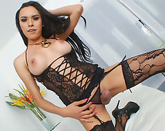 Trans Hottie Babe Nelly Pleases Herself